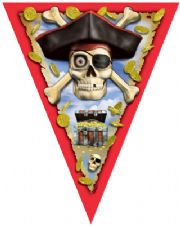 Pirate Bounty Pennant Flag Banner